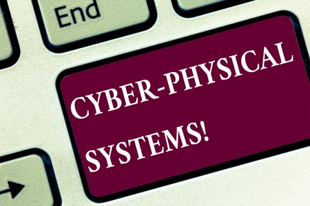 Handwriting text Cyber Physical Systems. Concept meaning Mechanism controlled by computerbased algorithms Keyboard key Intention to create computer message pressing keypad idea