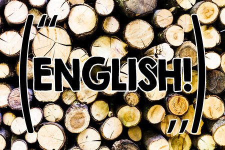 Text sign showing English. Business photo showcasing Relating to England its People or their Language Wooden background vintage wood wild message ideas intentions thoughts