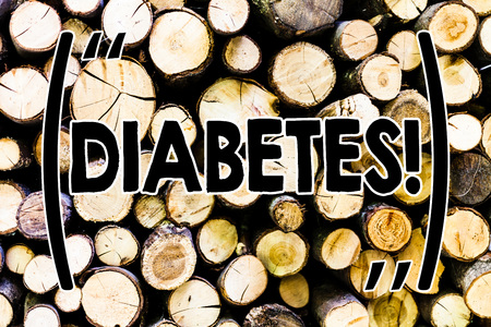 Text sign showing Diabetes. Business photo showcasing Chronic disease associated to high levels of sugar glucose in blood Wooden background vintage wood wild message ideas intentions thoughts
