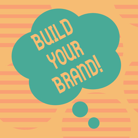 Word writing text Build Your Brand. Business photo showcasing creates or improves customers knowledge and opinions of product Blank Color Floral Shape Thought Speech Bubble photo for Presentation Ads 版權商用圖片