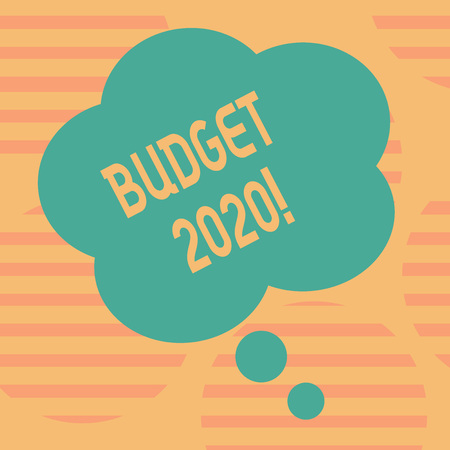 Word writing text Budget 2020. Business photo showcasing estimate of income and expenditure for next or current year Blank Color Floral Shape Thought Speech Bubble photo for Presentation Ads Reklamní fotografie