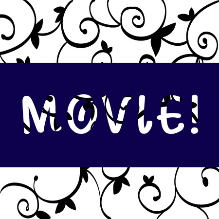 Conceptual hand writing showing Movie. Concept meaning Cinema or television film Motion picture Video displayed on screen Black Paisley Outline Pattern on Ironwork Grill Design Idea