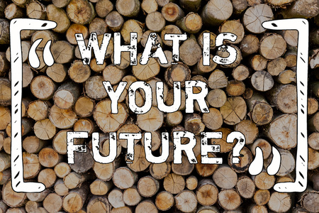 Word writing text What Is Your Future question. Business photo showcasing Where do you see yourself in the next years Wooden background vintage wood wild message ideas intentions thoughts