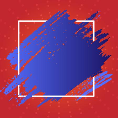 Niebieska farba wewnątrz ramki kwadratowej. Teksturowane smugi z koncepcją biznesową projektu pustej przestrzeni Pusty tekst kopii do banerów internetowych materiałów promocyjnych makiety szablonu