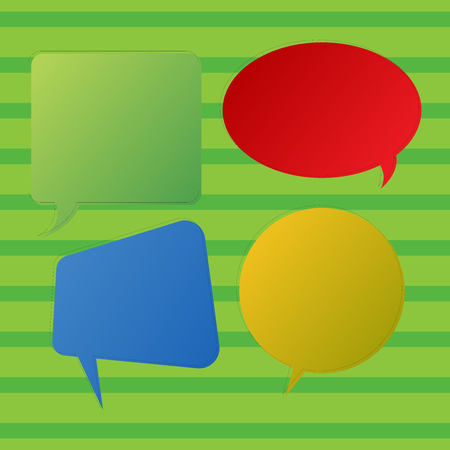 Blank Speech Bubble Sticker in Different Shapes and Color for Multiple Chat Business Empty template for Layout for invitation greeting card promotion poster voucher