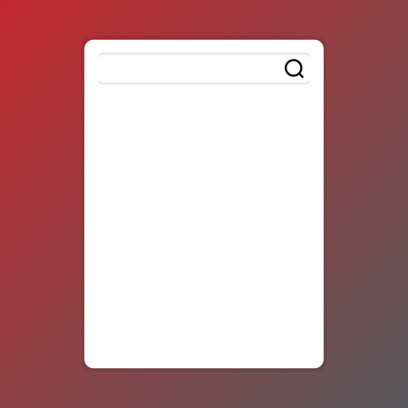 Search Bar with Magnifying Glass Icon photo on Blank Vertical White Screen Design business concept Empty copy text for Web banners promotional material mock up template. Illustration