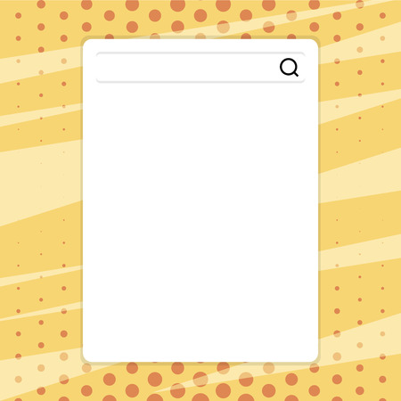 Search Bar with Magnifying Glass Icon photo on Blank Vertical White Screen Design business Empty template isolated Minimalist graphic layout template for advertising
