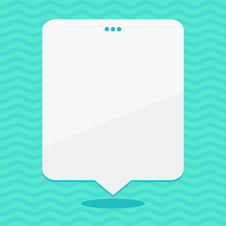 Blank Space White Speech Balloon Floating with Three Punched Holes on Top Business concept Empty template copy space isolated Posters coupons promotional material