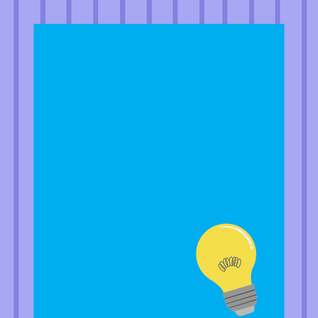 Incandescent Light Bulb with Filament Inside Resting on Blank Color Paper Copy Space design Empty template text for Ad, promotion, poster, flyer, web banner, article 向量圖像