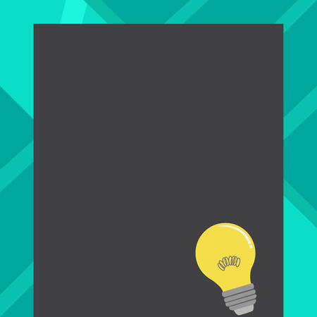 Incandescent Light Bulb with Filament Inside Resting on Blank Color Paper Design business concept Empty copy space modern abstract background Illustration