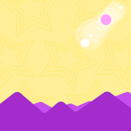 View of Colorful Mountains and Hills with Lunar and Solar Eclipse Happening Design business concept Empty copy space modern abstract background