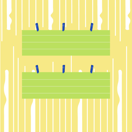 Two Color Blank Strip Size Lined Paper Sheet Hanging Using Blue Clothespin Copy Space design Empty template text for Ad, promotion, poster, flyer, web banner, article