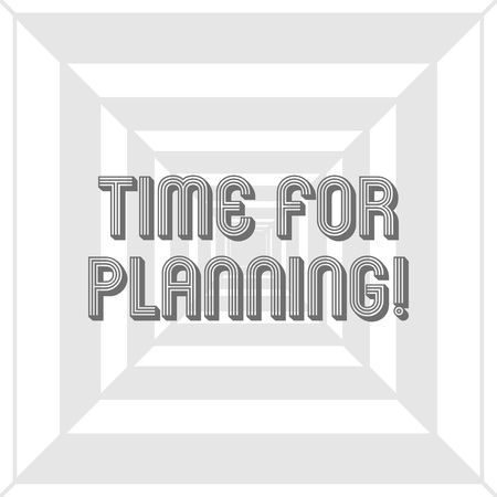 Writing note showing Time For Planning. Business concept for exercising conscious control spent on specific activities Concentric Pattern Creating Depth, Perspective and Optical Illusion