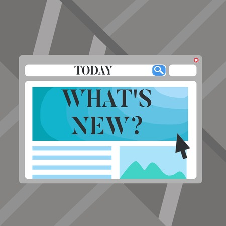 Word writing text What S New Question. Business photo showcasing when you ask someone about his current live events actions Blank Template of Pastel Colorful Website Layout Design for Homepage Format