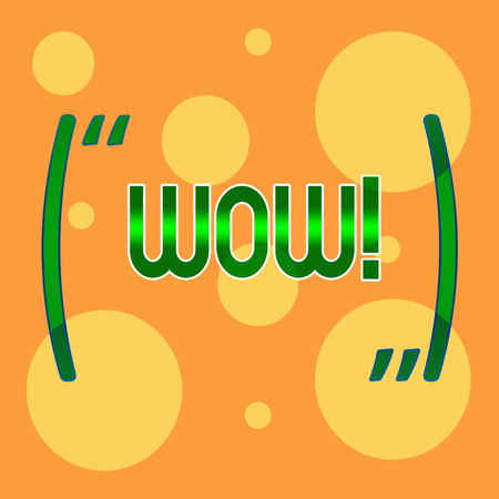Text sign showing Wow. Business photo showcasing Expression of somebody speechless amazed overjoyed Different Sizes of Blank Yellow Circles in Random on Pale Orange Backdrop