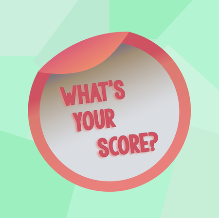 Conceptual hand writing showing What S Your Score. Concept meaning Personal grade rating on a competition game or study Bottle Packaging Lid Carton Container Easy to Open Cover