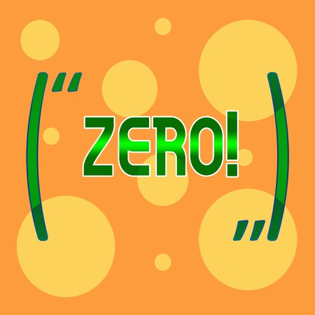 Text sign showing Zero. Business photo showcasing The emptiness nothingness of something no value Different Sizes of Blank Yellow Circles in Random on Pale Orange Backdrop