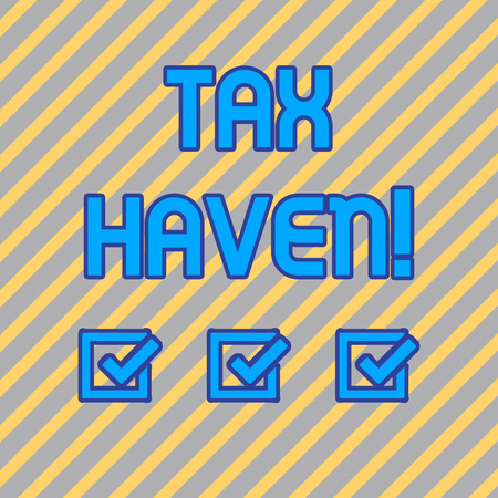 Text sign showing Tax Haven. Business photo text country or independent area where taxes are levied at low rate Seamless Diagonal Pattern of Pale Gold and Silver Stripes for Formal Theme