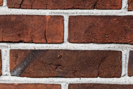 Old grunge brick wall background. Background of old vintage brick wall Stock Photo