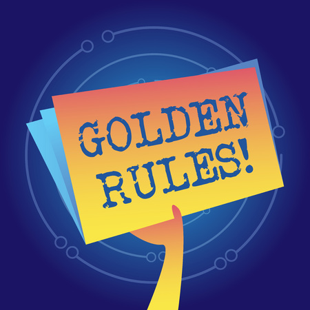 Writing note showing Golden Rules. Business concept for principle should followed to ensure success in general activity Hand Holding Blank Space Color File Folder with Sheet Inside