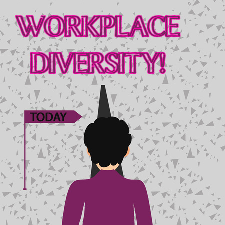 Word writing text Workplace Diversity. Business photo showcasing include race gender religion and sexual orientation Man Facing the Distance Ahead and Blocking the View of Straight Narrow Path