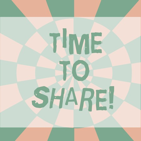 Text sign showing Time To Share. Business photo showcasing when you stay with friends family sharing precious moments Seamless Circles in Yellow on Violet Surface Flat Style Geometrical Pattern 写真素材
