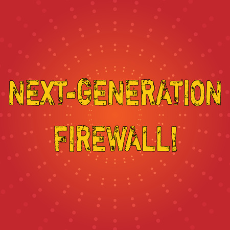 Text sign showing Next Generation Firewall. Business photo text combining firewall with other network filtering Sunburst with Blank Center Space and Halftone Dotted Extended Beam Lines