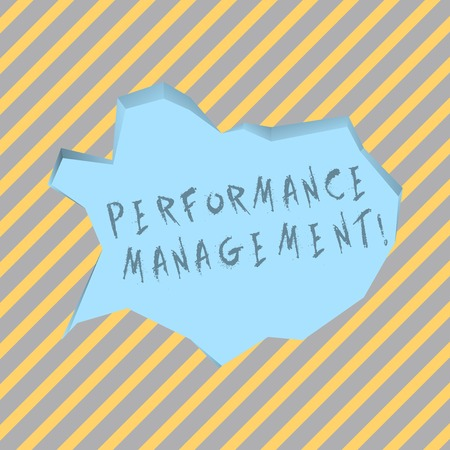 Text sign showing Perforanalysisce Management. Business photo text analysisaging Productivity Enhance Quality input Time Blank Pale Blue Speech Bubble in Irregular Cut Edge Shape 3D Style Backdrop