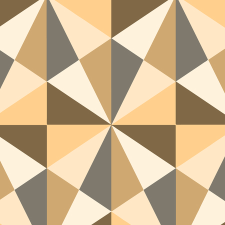 Obtuse Triangle Shape in Earth Tone Forming Mosaic and Stained Glass Pattern Design business Empty template isolated Minimalist graphic layout template for advertising