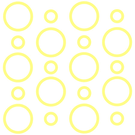 Seamless Printable Pattern of Yellow Loop Rings in Random on White Isolated Business Empty template for Layout for invitation greeting card promotion poster voucher Иллюстрация