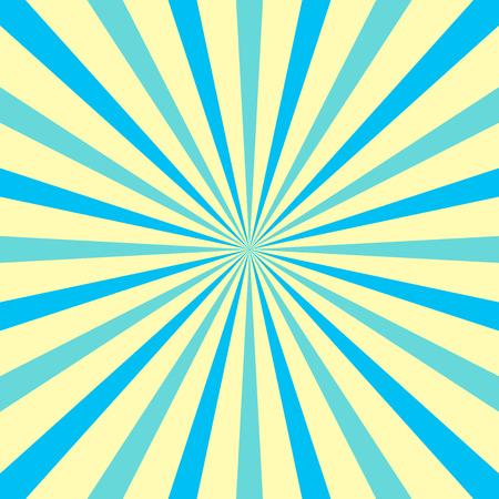 Sunburst multi-tons avec des rayons et des faisceaux de couleurs pastel pour des événements rétro amusants. Entreprise de conception de l'entreprise Texte de l'espace de copie vide pour la promotion du site Web publicitaire Modèle de bannière isolé.