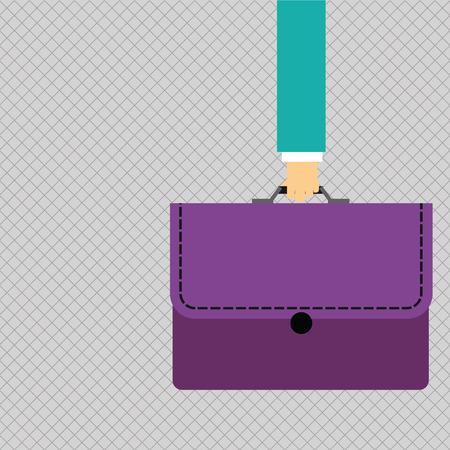 Portafoglio di valigetta colorata da trasporto a mano d'affari con modello vuoto Business Stitch applique per layout per voucher poster promozione biglietto di auguri invito
