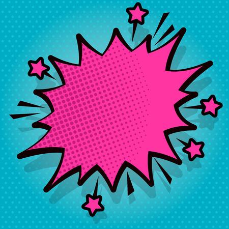 Spiky Blank Fight et hurlant de bulle de dialogue en colère avec un concept d'entreprise de conception de contour sombre et épais Espace copie vide abstrait moderne