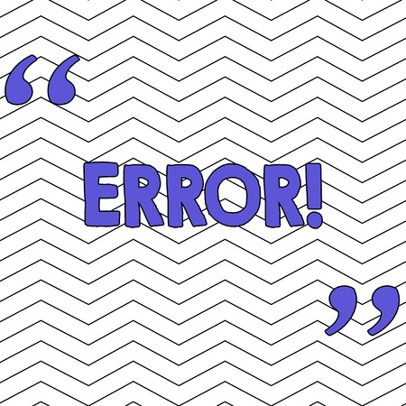 Writing note showing Error. Business concept for state or condition of being wrong in conduct judgement or program Pattern of Seamless Jagged Uneven Horizontal Lines on White Surface