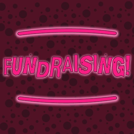 Writing note showing Fundraising. Business concept for seeking to generate financial support for charity or cause Seamless Maroon Circles in Different Sizes Scattered in Random Pattern