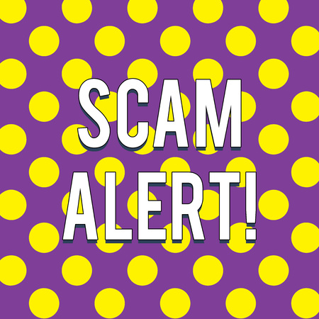 Handwriting text Scam Alert. Conceptual photo fraudulently obtain money from victim by persuading him Seamless Circles Quarterly Divided in Multicolor Creating Cubism Flat Style Stock Photo