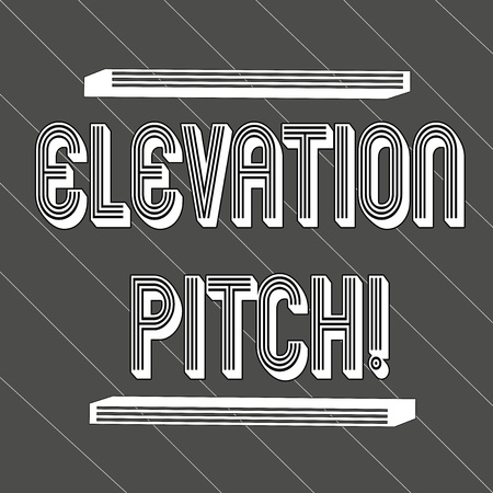 Handwriting text Elevation Pitch. Conceptual photo short description of product business idea given to investor Seamless Thick Black Stripes and Thin White Lines Slanting at 45 Degrees
