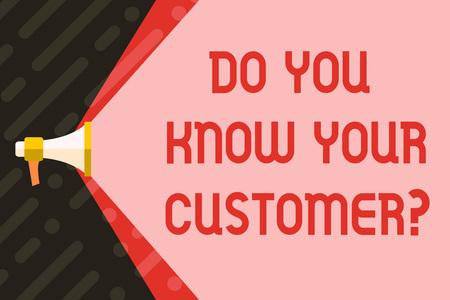 Handschrift Text schreiben Kennen Sie Ihre Kundenfrage. Konzeptioneller Fotoservice identifiziert Kunden mit relevanten Informationen Megaphon Erweiterung der Kapazität des Lautstärkebereichs durch Leerraum Wide Beam