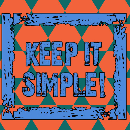 Conceptual hand writing showing Keep It Simple. Concept meaning ask something easy understand not go into too much detail Seamless Triangles Positioned Up and Down Forming Hexagon Shape