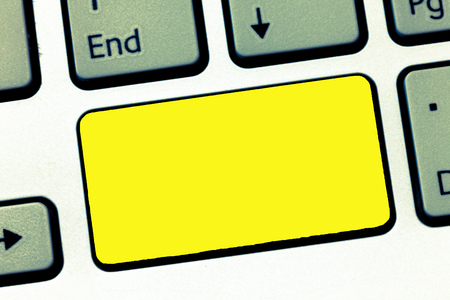 Design business concept Empty template copy space text for Ad website isolated. Keyboard key Intention to create computer message, pressing keypad idea