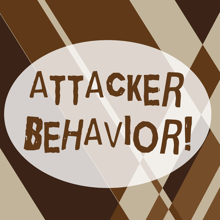 Text sign showing Attacker Behavior. Business photo text analyze and predict the attacker behavior of the attack Geometrical Shapes and Linear Combination in Brown Tone in Abstract Pattern