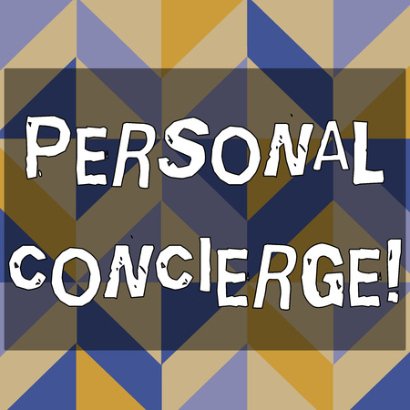Text sign showing Personal Concierge. Business photo text someone who will make arrangements or run errands 3D Formation of Geometric Shapes Creating Cubes and Blocks with Perspective