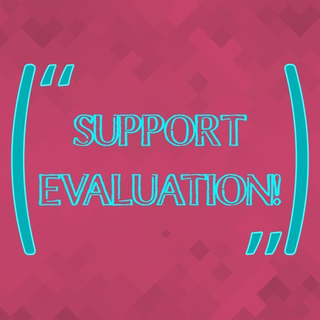 Handwriting text Support Evaluation. Conceptual photo Assisting process that critically examines a program Rosy Pink Monochrome Square Mesh Seamless Grid Pattern for Technical Design