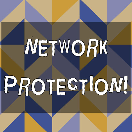 Text sign showing Network Protection. Business photo text protect the usability and integrity of the network 3D Formation of Geometric Shapes Creating Cubes and Blocks with Perspective