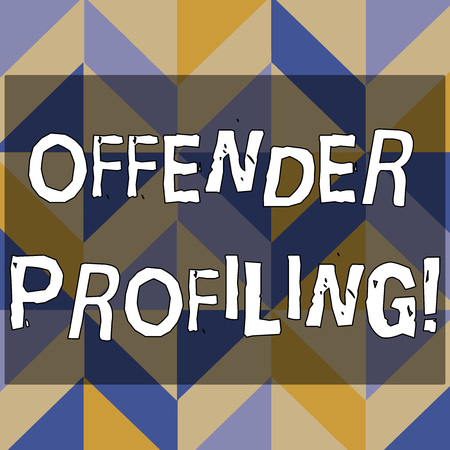 Text sign showing Offender Profiling. Business photo text Develop profiles for offenders who not yet apprehended 3D Formation of Geometric Shapes Creating Cubes and Blocks with Perspective