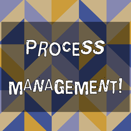 Text sign showing Process Management. Business photo text aligning processes with an organization s is strategic goals 3D Formation of Geometric Shapes Creating Cubes and Blocks with Perspective