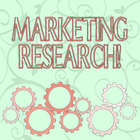 Writing note showing Marketing Research. Business concept for process of determining the viability of a new service Colorful Cog Wheel Gear Engaging, Interlocking and Tesselating Фото со стока