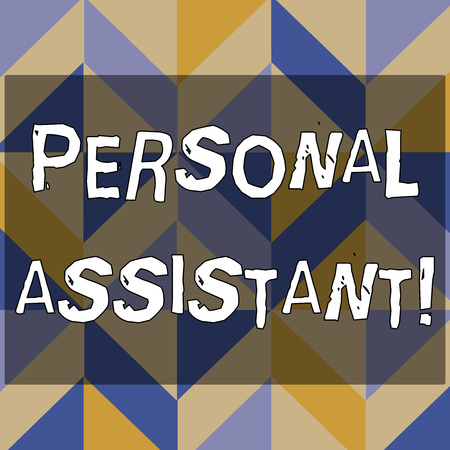 Text sign showing Personal Assistant. Business photo text administrative assistant working exclusively for a demonstrating 3D Formation of Geometric Shapes Creating Cubes and Blocks with Perspective Stock fotó
