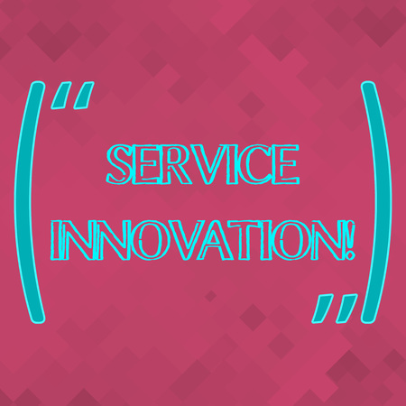 Handwriting text Service Innovation. Conceptual photo changing the way you serve better your customers Rosy Pink Monochrome Square Mesh Seamless Grid Pattern for Technical Design