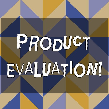 Text sign showing Product Evaluation. Business photo text viability of the product with respect to market deanalysisd 3D Formation of Geometric Shapes Creating Cubes and Blocks with Perspective